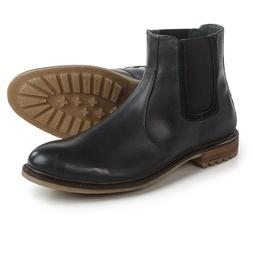 Hush Puppies Beck Rigby Chelsea Mens Black Leather Boots, US