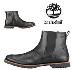 Timberland Kendrick Side-Zip Black Leather Chelsea Boots A1N