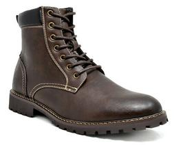 Men's Leather Motorcycle Boots Casual Lace Up Formal Oxford