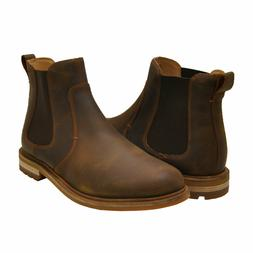 Men's Shoes Clarks FOXWELL TOP Leather Pull On Chelsea Boots