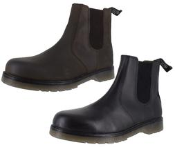 Catesby Mens Smart Leather Dealer Chelsea Pull On Boots