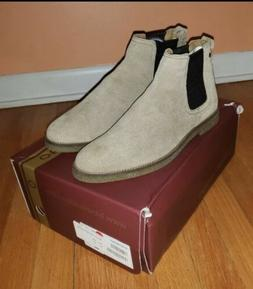 Base London Mens Suede Chelsea Boots Taupe Size 9