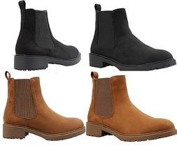 Suede Chelsea Women Boots Hight Quality Elasticated side Sty